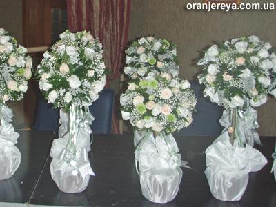 Букеты для оформления свадебного стола