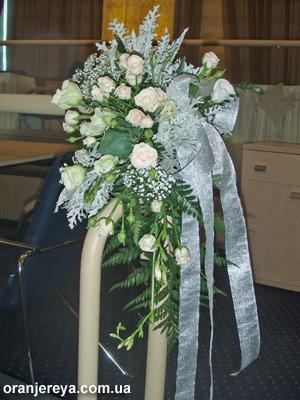 Свадебное украшение перил