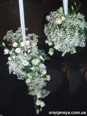 Подвесные украшения для свадьбы из цветов